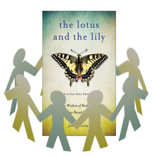 The Lotus and the Lily book surrounded by cutout people