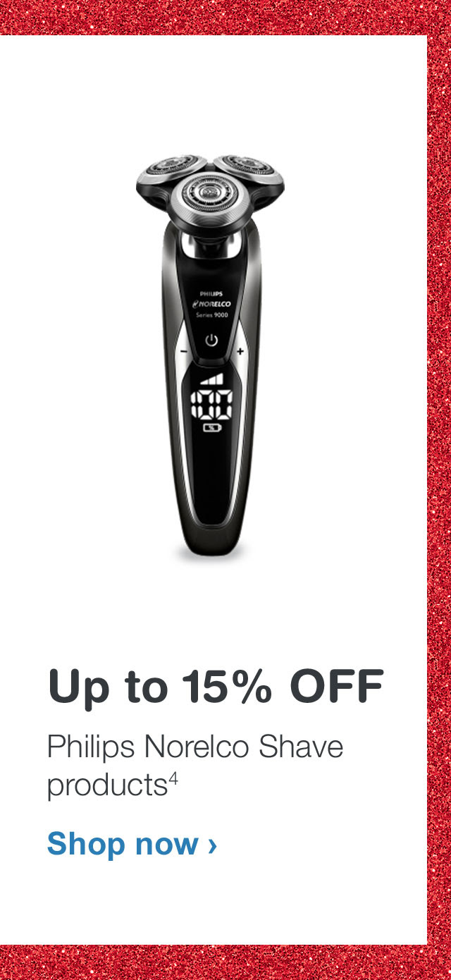 Up to 15% OFF Philips Norelco Shave products