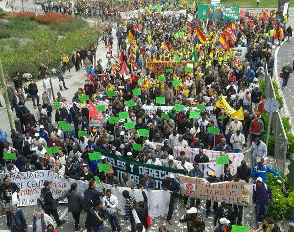 22M: Columna Nordeste accediendo a Madrid