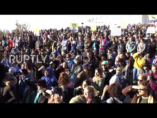 USA: Thousands march against the Dakota Access Pipeline in Washington DC  Sddefault