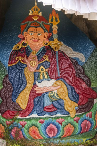 Rock painting of Padmasambhava