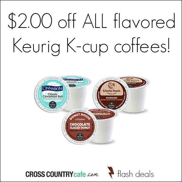 Flavored Keurig K-cup coffee flash deal