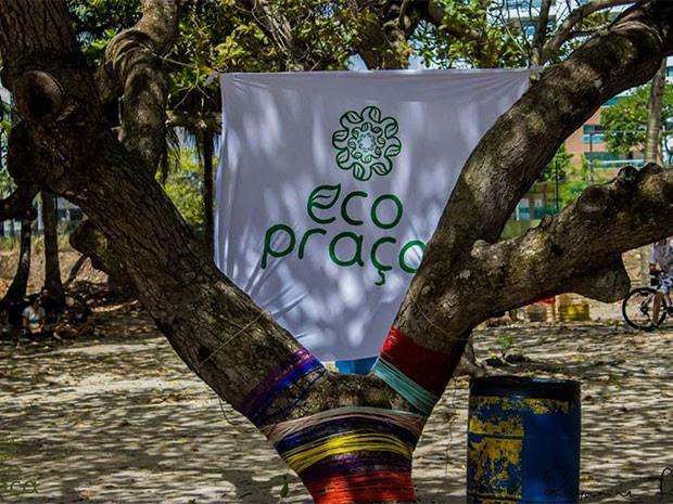 O Eco Praça promove a utilização, ocupação e revitalização das praças públicas (Foto: Rayanne Fonseca)