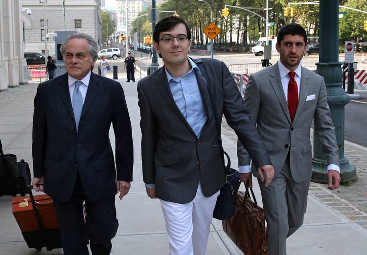 Martin Shkreli goes to court.(Peter Foley/Bloomberg)