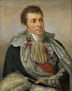 Portrait par Andrea Appiani (1754–1817): Berthier y porte la Légion d'honneur (écharpe et grand aigle) et l'Ordre de l'Aigle noir.