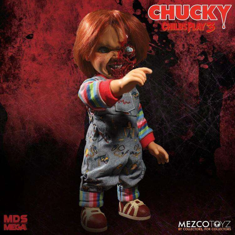 Image of Child's Play 3 Mezco Designer Series Talking Pizza Face Chucky