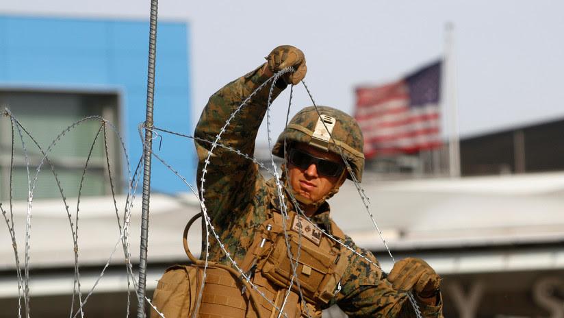 """EE.UU. """"fortalece"""" la frontera con México en Tijuana a la espera de la caravana de migrantes"""
