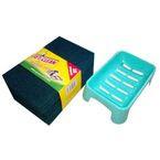 Set of 10 Green Scrub & 1 Soap Case (Both Large Size)