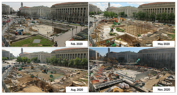 Construction progressed well all year in 2020