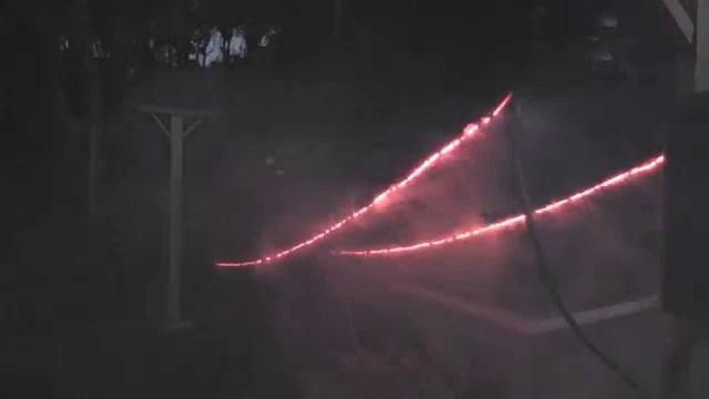 China Lake Power Lines Glowed Red During 7.1 Quake!