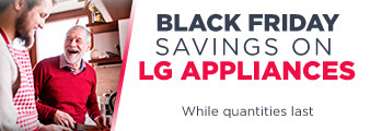 Black Friday Savings on LG Appliances. While quantities last. Shop Now.