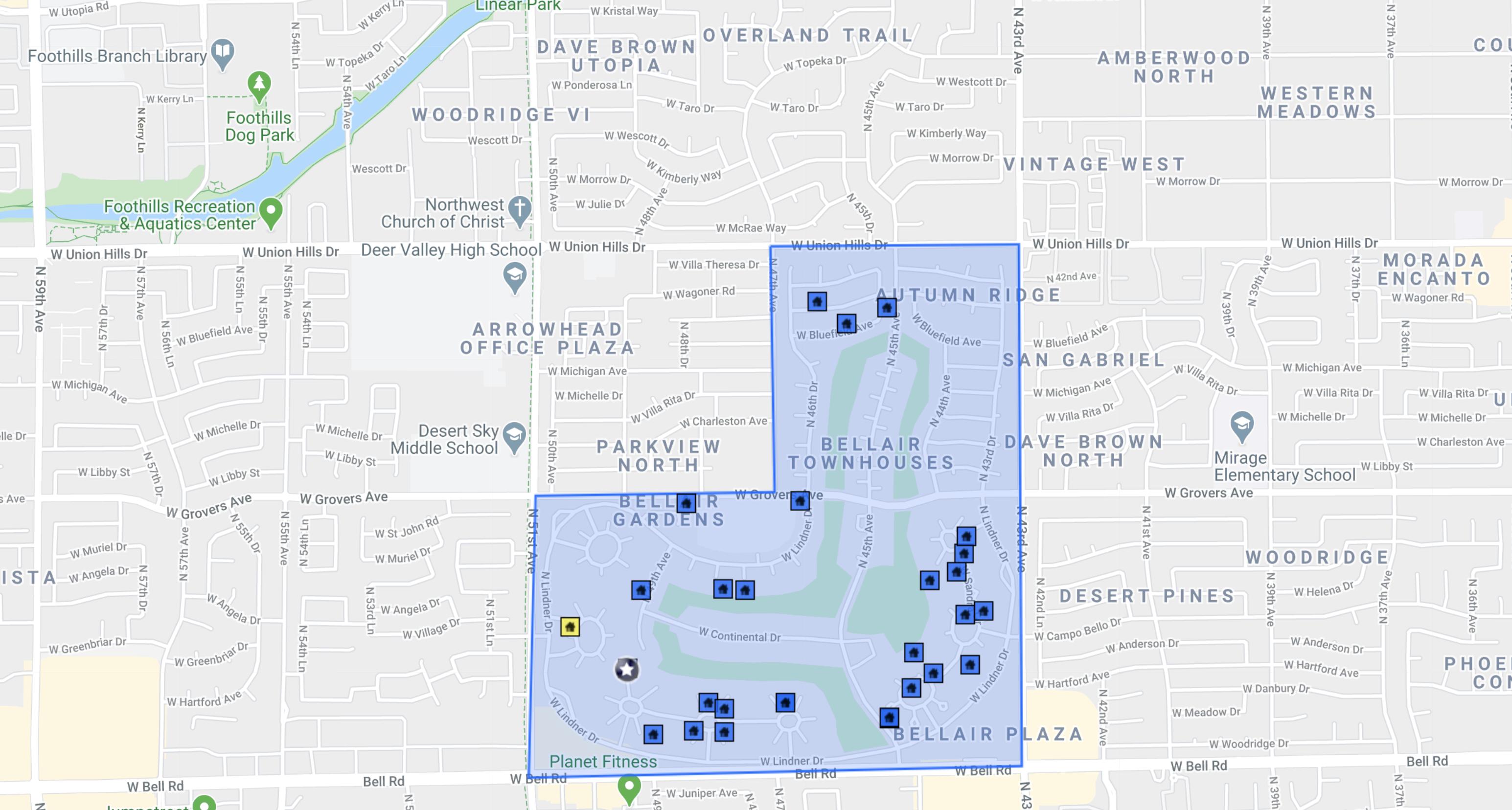 17217 N Lindner Dr Glendale, AZ 85308 comps map