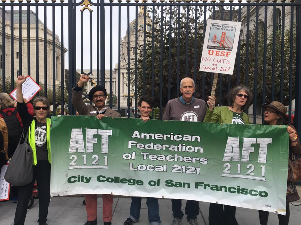 AFT solidarity with UESF