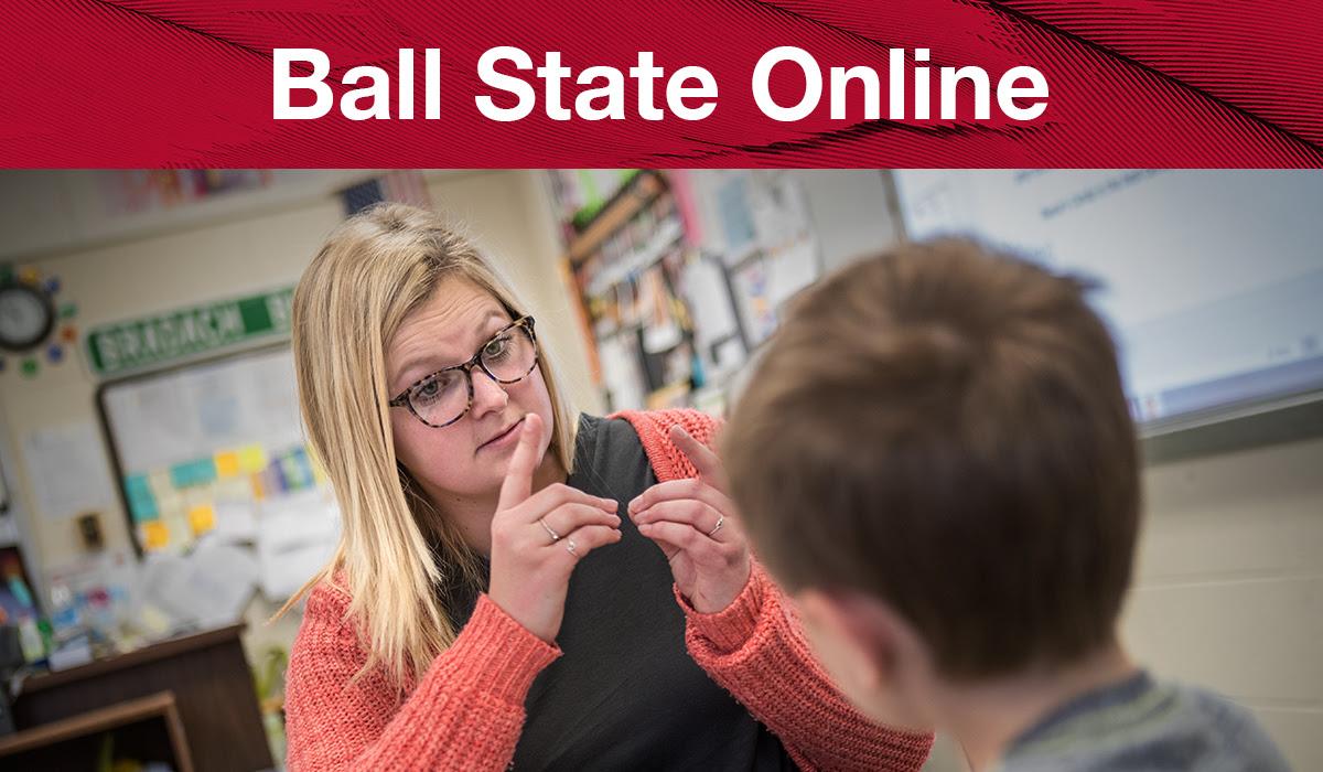 Ball State Online Deaf Education License Image