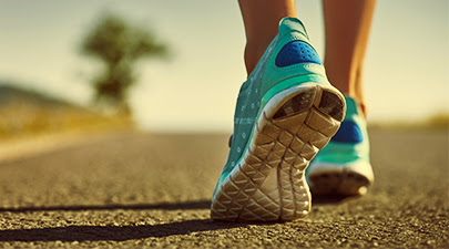 woman walking sneakers