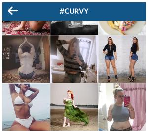 Instagram Brings Back #Curvy