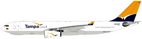 Airbus A340-200F Tampa Cargo N330QT ! is due: August 2019