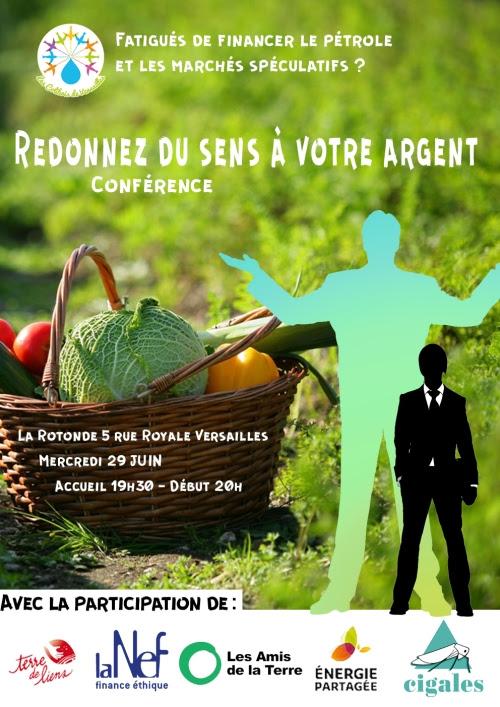 Conférence Redonnez du sens à votre argent (affiche)