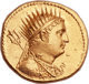 Stunning gold mnaieion of Ptolemy III