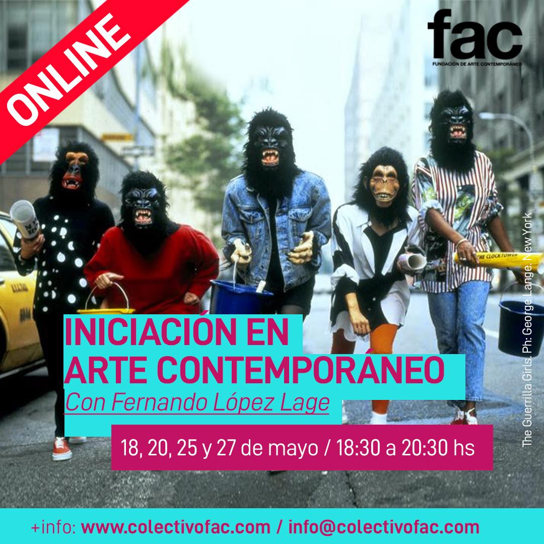 Iniciación en arte contemporáneo | 18, 20, 25 y 27 de mayo | 18:30 a 20:30 hs