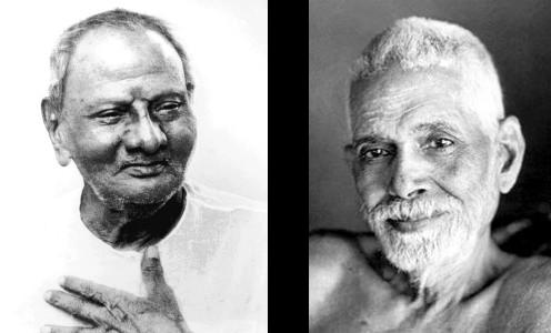 Ramana Maharshi & Nisargadatta Maharaj (image)