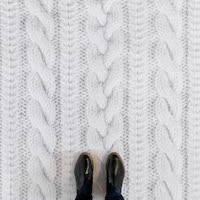 White Knit | Knit Effect Vinyl Flooring