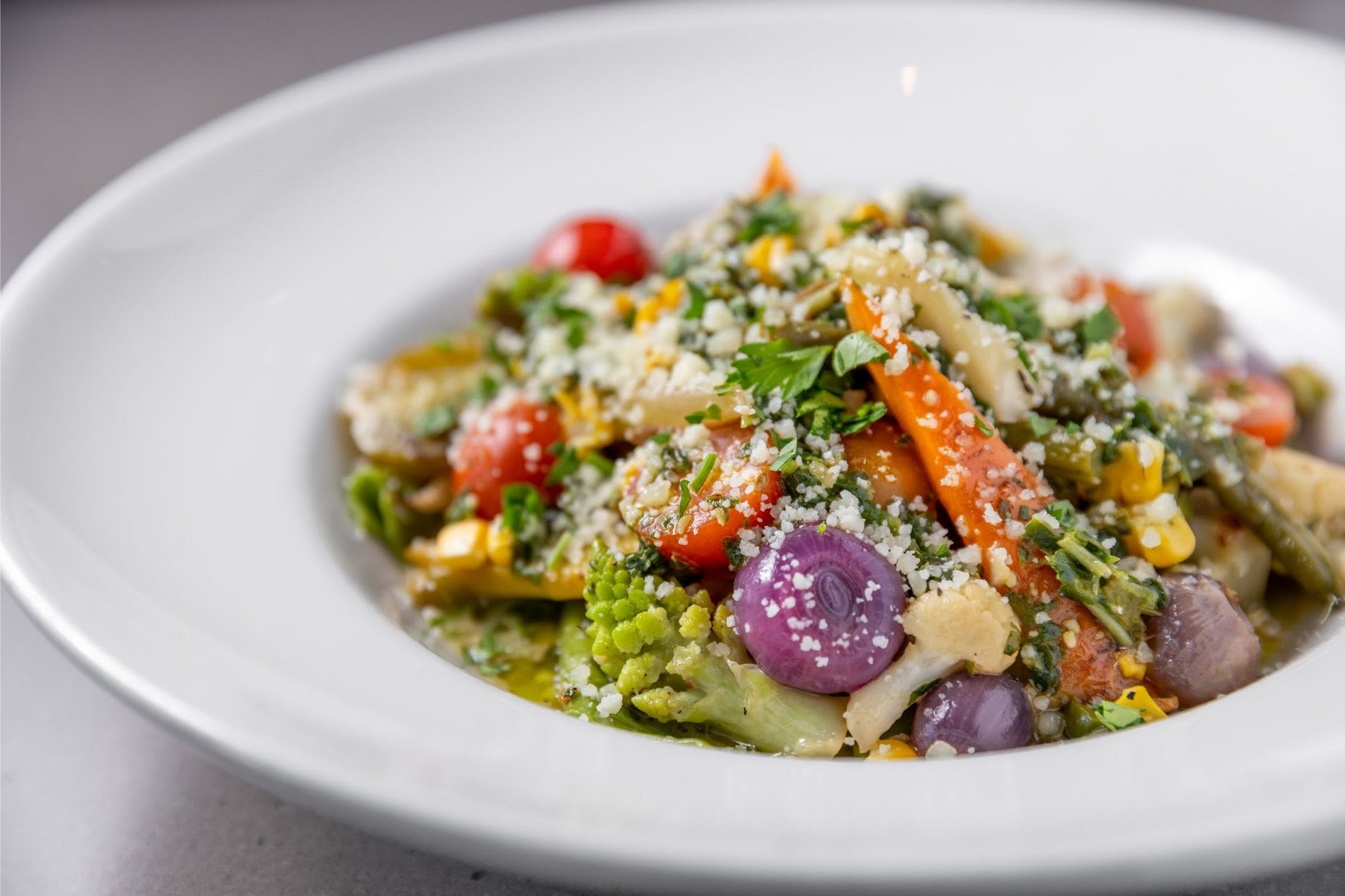 Heirloom Vegetables & Herb Pappardelle Pasta