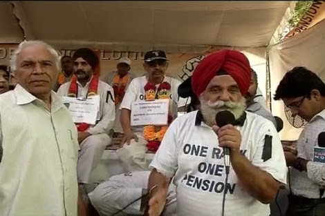 OROP Protests Gen Satbir