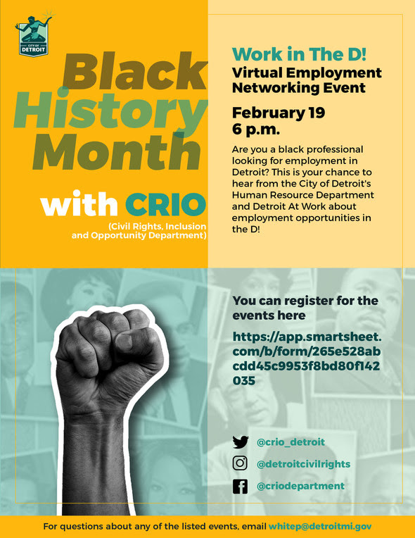 Black History Month CRIO Employment Networking Event 2.19.21