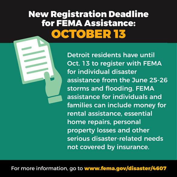 FEMA Registration Deadline Extended to Oct. 13