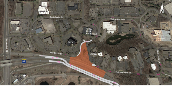 Yellow Circle Roadway Changes in Minnetonka