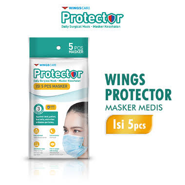 WINGSCARE Protector Masker 3ply 5s