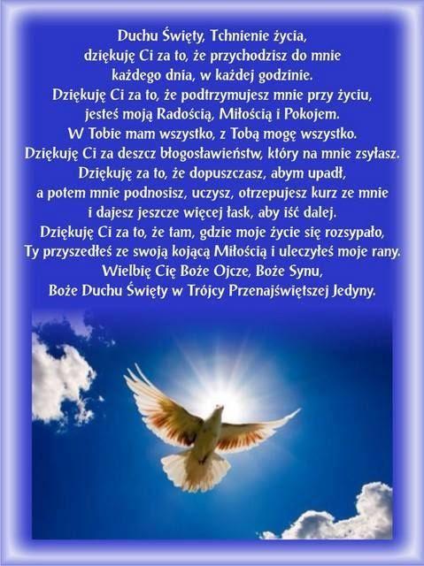Modlitwa do Ducha ÅšwiÄ™tego (With images) | Duch Å›wiÄ™ty, Modlitwa ...