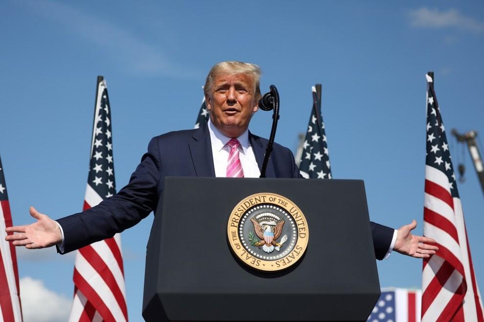 Donald Trump durante un acto de campaña. REUTERS.