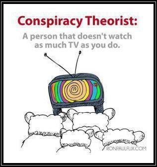 conspiracy theoris person who does not watch as much tv t true photo
