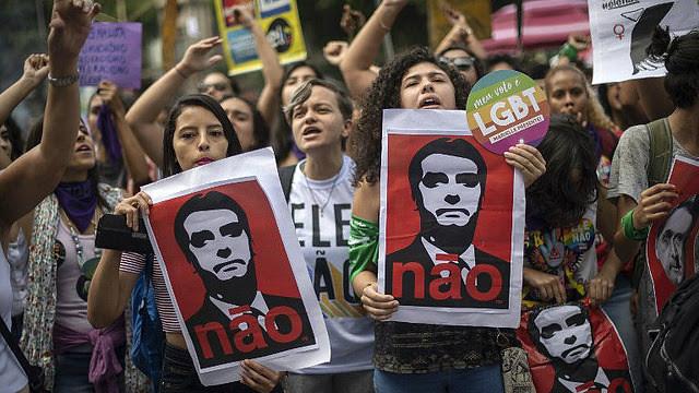 Manifestación contra Jair Bolsonaro en Rio de Janeiro  - Créditos: AFP