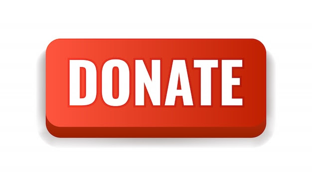 Premium Vector | Red donate button