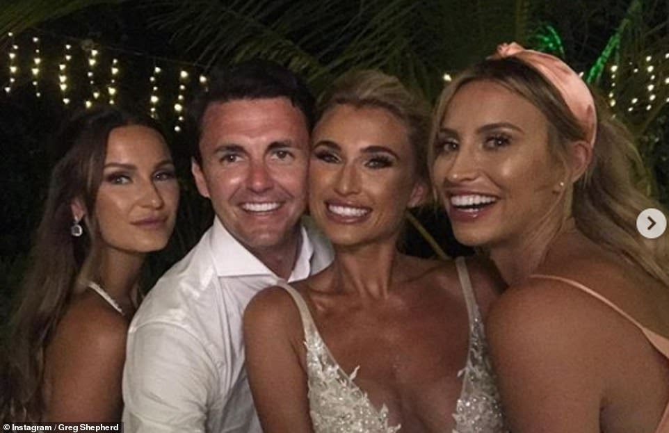 Family affair: Plenty of selfies were posted following the occasion, alongside Billie's sister Sam, as well as their close friend Ferne McCann