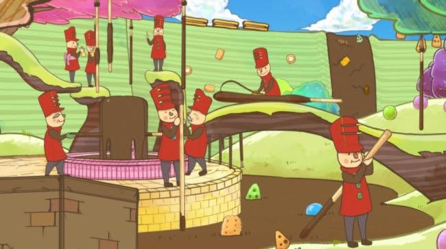 「ポッキーのチョコ付け工程を初公開!」