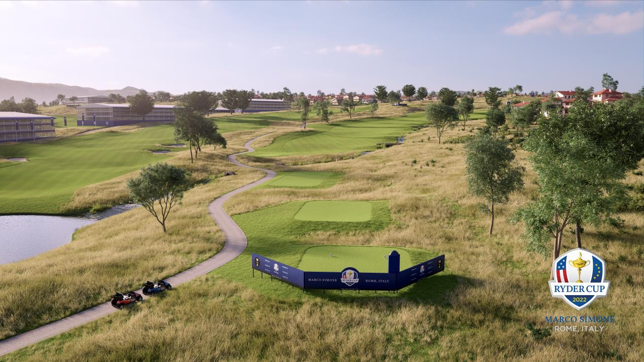 The 10th hole at Marco Simone Golf & Country Club near Rome, which will host the 2022 Ryder Cup