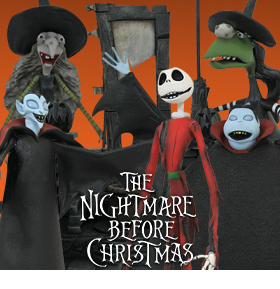 THE NIGHTMARE BEFORE CHRISTMAS SELECT WAVE 8 SET OF 3