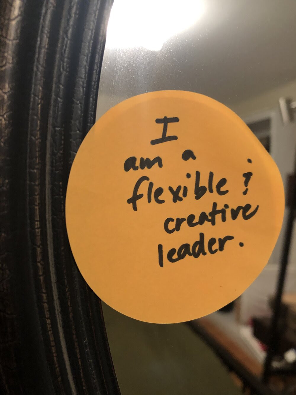 Flexible leader sticky