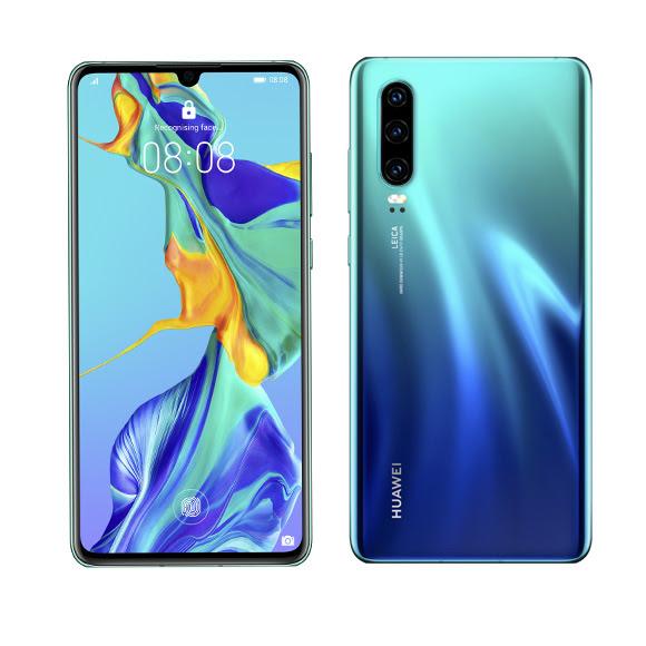 Sulikezdés - Huawei P30 Dual SIM kártyafüggetlen okostelefon, auróra kék (Android)