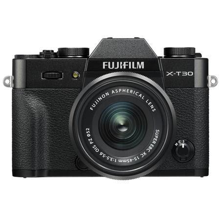X-T30 Mirrorless Digital Camera with XC 15-45mm F3.5-5.6 OIS PZ Lens, Black