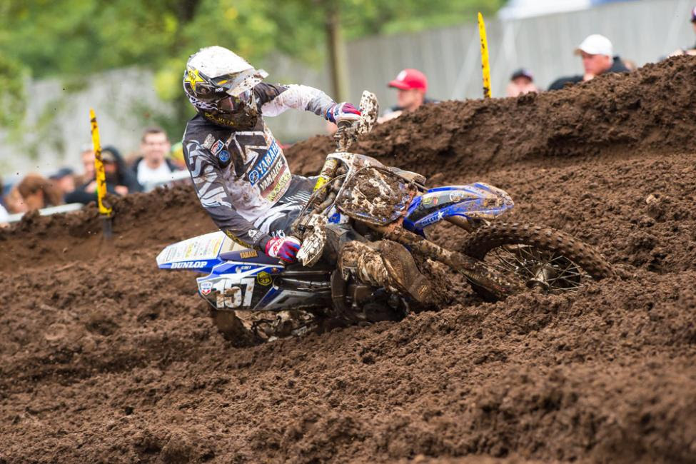 Rookie Plessinger earned the first overall podium finish of his career.Photo: Simon Cudby