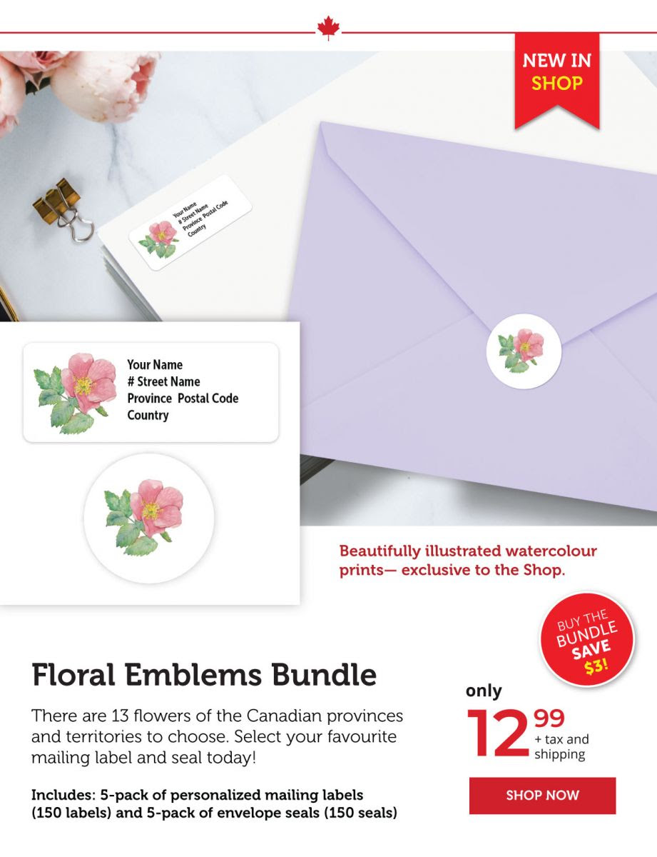 Floral Emblems Envelope Seals