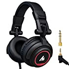 Maono AU-MH501 Professional Studio Monitor Headphones, Over Ear with 50mm Driver for DJ, Studio and Microphone Recording