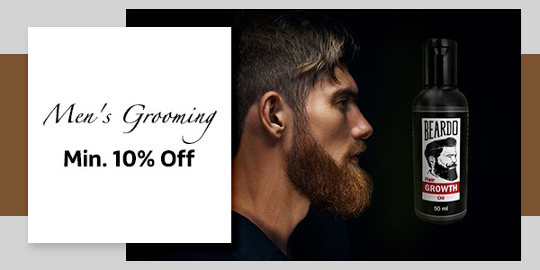Men's Grooming at Min. 10% Off