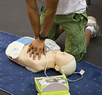 Person giving CPR