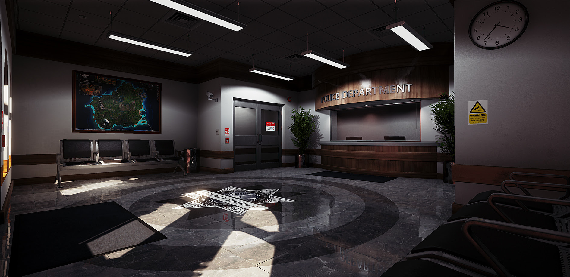 Police station interior